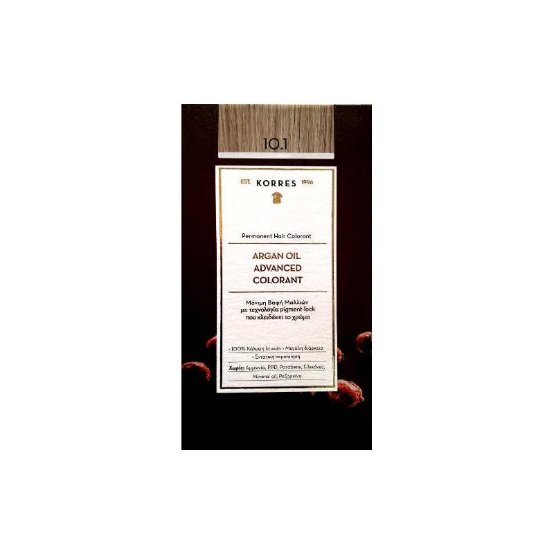 Korres Argan oil βαφή Μαλλιων 10.1 Ξανθο Πλατινας Σαντρε 50ml.