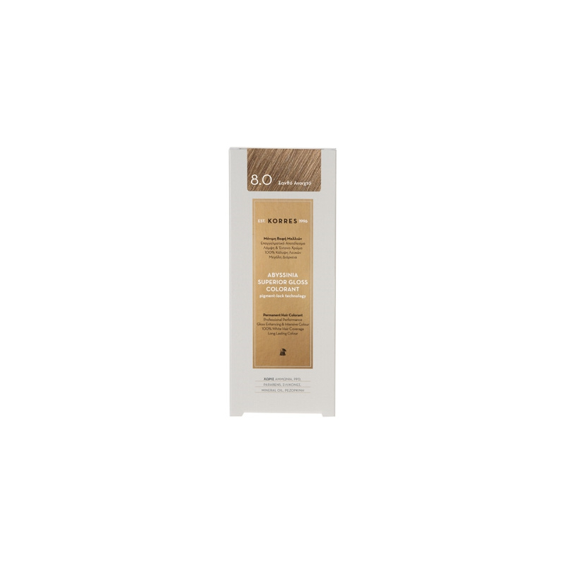 Korres Abyssinia superior gloss colorant 8.0 Ξανθό Ανοιχτό 50ml
