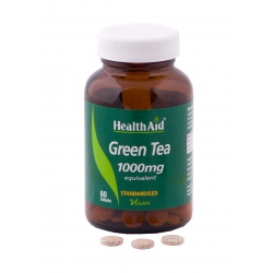 Health Aid Green Tea tabs Πρασίνο Τσάι 1000mg 60tabs