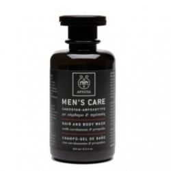 Apivita Men's Care Σαμπουάν / Αφρόλουτρο με κάρδαμο & πρόπολη 250ml