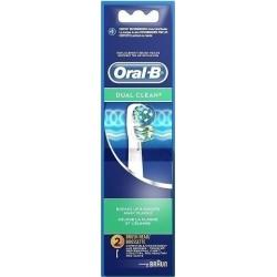 Oral-Β Dual Clean Ανταλλακτικά Βουρτσάκια 2τμχ