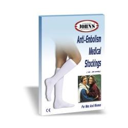 Johns Κάλτσες Antiembolism 18-24mmHg Kάτω Γόνατος 214527 Λευκό