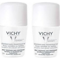 Vichy Anti-Transpirant Soothing Sensitive Roll-On 48h 50mlx2